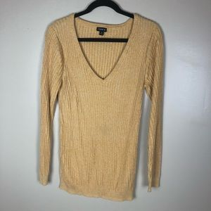 Torrid Yellow Gold Long Sleeve Sweater